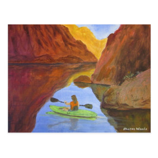 Kayaking at Lake Powell Postcard