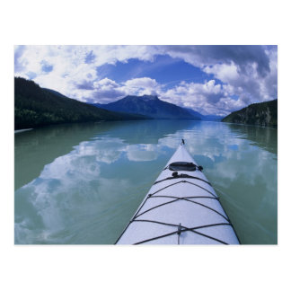 Kayaking at the end end of Azure Lake in Wells Postcard
