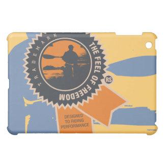 Kayaking Blue, Orange, Gold  iPad Mini Cases