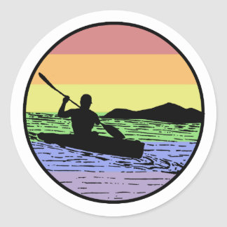 Kayaking Classic Round Sticker