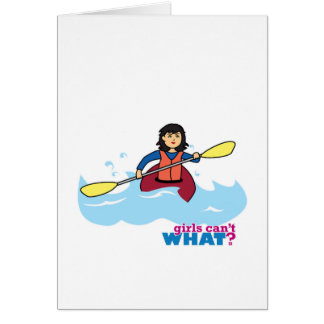 Kayaking Girl - Medium Card