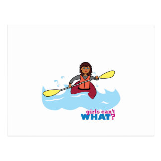 Kayaking Girl Postcard