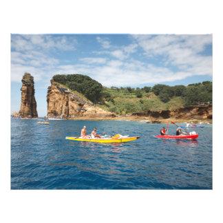 Kayaking in Azores 21.5 Cm X 28 Cm Flyer