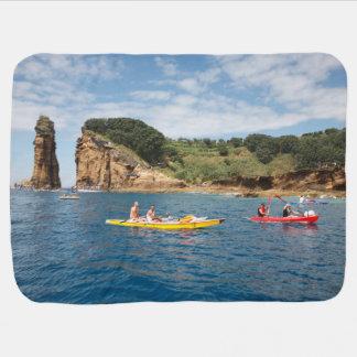 Kayaking in Azores Baby Blanket