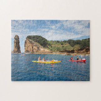 Kayaking in Azores Jigsaw Puzzle