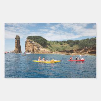 Kayaking in Azores Rectangular Sticker