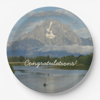 Kayaking in Grand Teton National Park Paper Plate