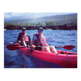 Kayaking in Kona Hawaii Postcard