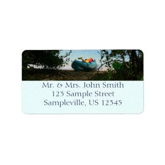 Kayaking in St. Thomas US Virgin Islands Address Label