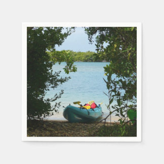 Kayaking in St. Thomas US Virgin Islands Disposable Napkin