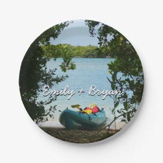 Kayaking in St. Thomas US Virgin Islands Paper Plate