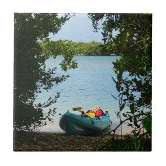 Kayaking in St. Thomas US Virgin Islands Tile