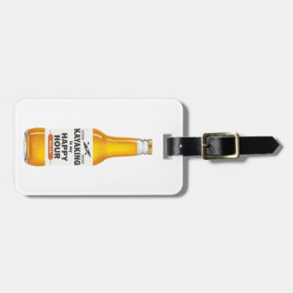 Kayaking Is My Happy Hour Luggage Tag
