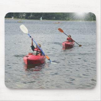 Kayaking Kids Mouse Pad
