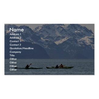 Kayaking on Resurrection Bay Business Cards