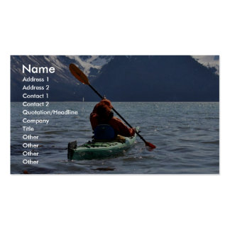 Kayaking on Resurrection Bay Business Card