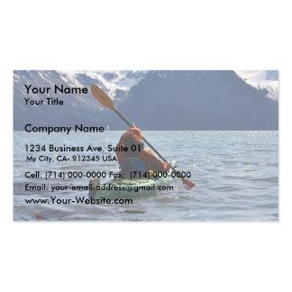 Kayaking on Resurrection Bay Business Card Template
