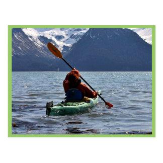 Kayaking on Resurrection Bay Postcards