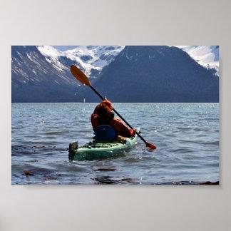 Kayaking on Resurrection Bay Print