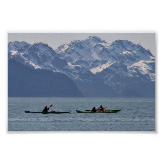 Kayaking on Resurrection Bay Posters
