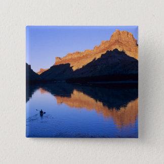 Kayaking on the Colorado River in Spanish 15 Cm Square Badge