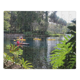 Kayaking on the Silver River Jigsaw Puzzle