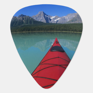 Kayaking on Waterfowl Lake below Howse Peak Guitar Pick