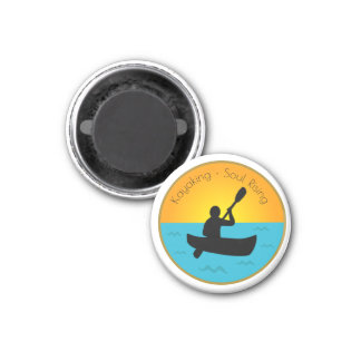 Kayaking Soul Rising Magnet