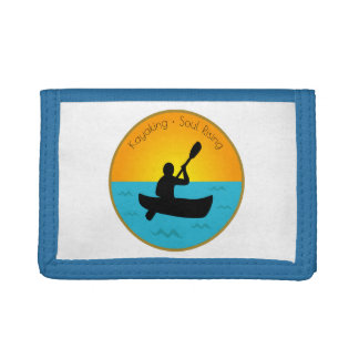 Kayaking Soul Rising Tri-fold Wallets