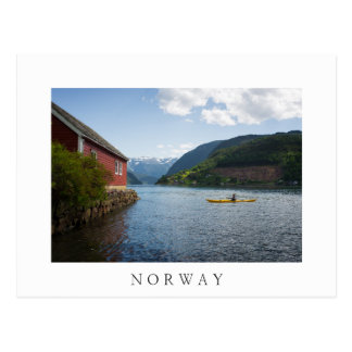 Kayaking the Hardangerfjord in Norway Postcard