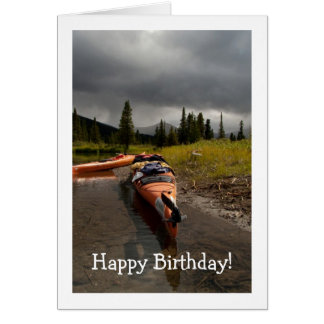 Kayaking the Lapie; Happy Birthday Card