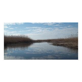 Kayaking the Marsh Personalized Photo Card