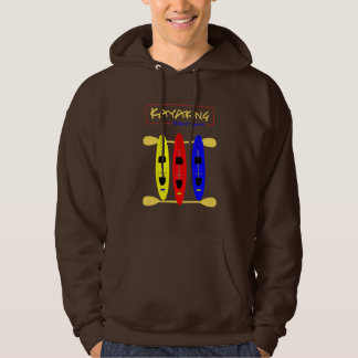 Kayaking Water Sports Themed Graphic Hoodie