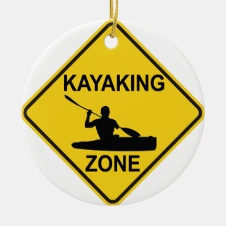 Kayaking Zone Ceramic Ornament