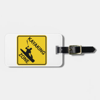 Kayaking Zone Luggage Tag
