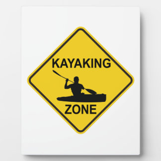 Kayaking Zone Road Sign Plaque