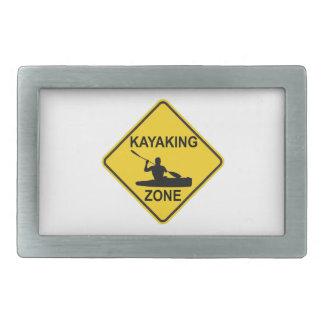 Kayaking Zone Road Sign Rectangular Belt Buckle