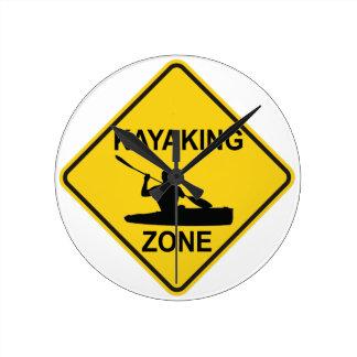 Kayaking Zone Round Clock