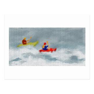 Kayaks Art Postcard