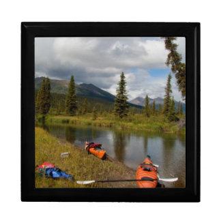 Kayaks at Rest Large Square Gift Box