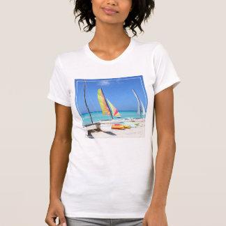 Kayaks, Catamarans And Kayaks| Cuban Beach T-Shirt