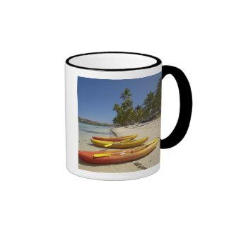 Kayaks on the beach, Plantation Island Resort Ringer Mug