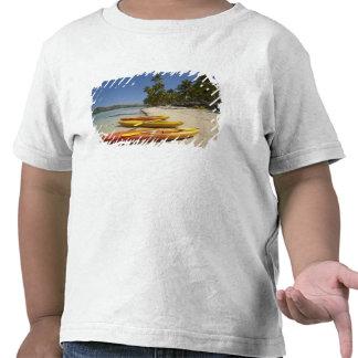 Kayaks on the beach, Plantation Island Resort Tee Shirts