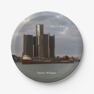 Kaye E. Barker Detroit paper plate