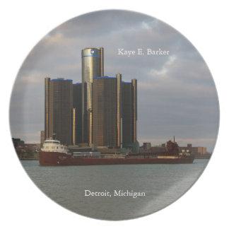 Kaye E. Barker Detroit plate