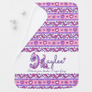 Kaylee personalized K name meaning baby blanket
