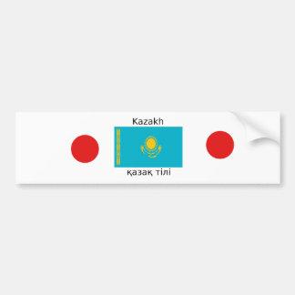 Kazakh Language And Kazakhstan Flag Design Bumper Sticker