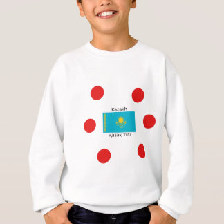 Kazakh Language And Kazakhstan Flag Design Sweatshirt