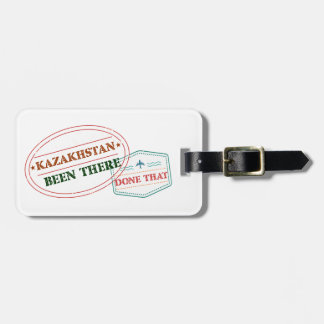 Kazakhstan Been There Done That Luggage Tag