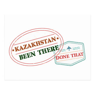 Kazakhstan Been There Done That Postcard